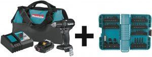 Makita XFD11R1B Driver-Drill Kit (2.0Ah) with 35 Pc ImpactX Driver Bit Set